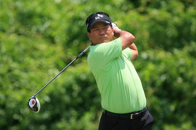 NEW ORLEANS, LA - APRIL 30: K.J. Choi of South Korea hits his tee shot on the second hole during the third round of the Zurich Classic at the TPC Louisiana on April 30, 2011 in New Orleans, Louisiana. (Photo by Hunter Martin/Getty Images)
