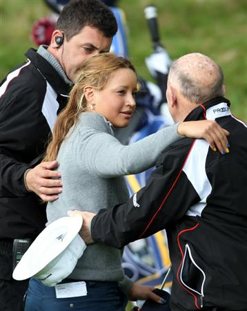 GLENEAGLES, SCOTLAND - SEPTEMBER 28:  Isabella Deilert of the USA team celebrates her victory over Cassy Isagawa of the USA team during the second day of play at the Junior Ryder Cup at Gleneagles on September 28 2010 near Muirton, Scotland. (Photo by Ian MacNicol/Getty Images)