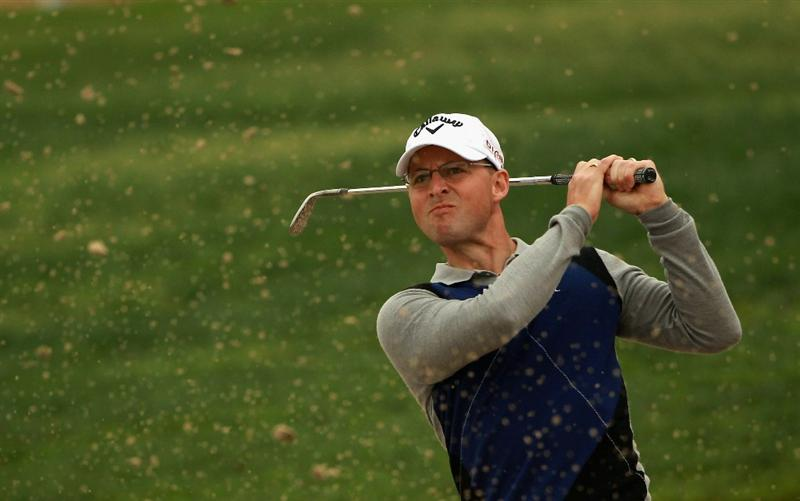 ABU DHABI, UNITED ARAB EMIRATES - JANUARY 21:  Niclas Fasth of Sweden in action during the second round of The Abu Dhabi HSBC Golf Championship at Abu Dhabi Golf Club on January 21, 2011 in Abu Dhabi, United Arab Emirates.  (Photo by Andrew Redington/Getty Images)
