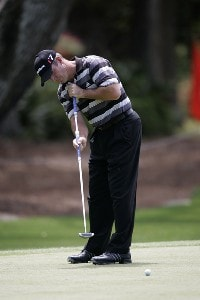 Peter Lonard during the Pro-Am tournament at the Verizon Heritage Classic being played at the Harbour Town Golf Links in Hilton Head, South Carolina on April 12, 2006.Photo by Mike Ehrmann/WireImage.com