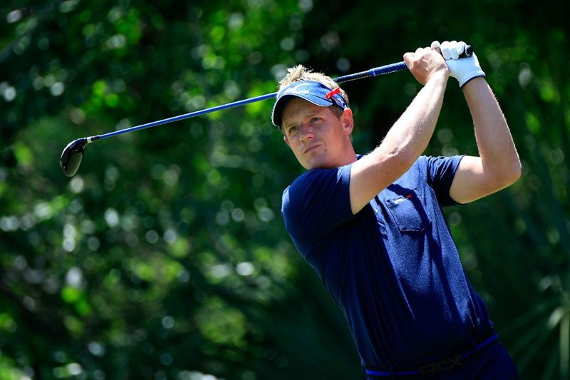 PONTE VEDRA BEACH, FL - MAY 15:  Luke Donald of England hits his tee shot on the fifth hole during the final round of THE PLAYERS Championship held at THE PLAYERS Stadium course at TPC Sawgrass on May 15, 2011 in Ponte Vedra Beach, Florida.  (Photo by Sam Greenwood/Getty Images)