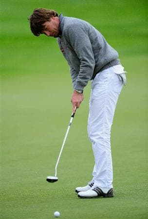PARIS - SEPTEMBER 26:  Robert Jan Derksen of The Netherlands putting on the 16th hole during the final round of the Vivendi cup at Golf de Joyenval on September 26, 2010 in Chambourcy, near Paris, France.  (Photo by Stuart Franklin/Getty Images)