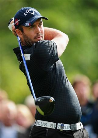 HILVERSUM, NETHERLANDS - SEPTEMBER 12:  Christian Nilsson of Sweden plays his tee shot on the 14th hole during the final round of  The KLM Open Golf at The Hillversumsche Golf Club on September 12, 2010 in Hilversum, Netherlands.  (Photo by Stuart Franklin/Getty Images)