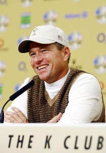 USA's Scott Verplank during his press conference for the 2006 Ryder Cup at the K Club in Straffan, Ireland on September 19, 2006.