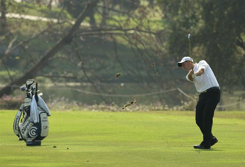 NEW DELHI, INDIA - FEBRUARY 16:  David Howell of England in action during the Pro-Am of the Avantha Masters held at The DLF Golf and Country Club on February 16, 2011 in New Delhi, India.  (Photo by Ian Walton/Getty Images)