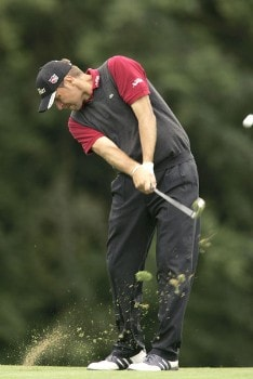 Jose Manuel Lara during the second round of the 2005 Smurfit European Open on the Palmer Course at the K Club in Straffan, Ireland on July 1, 2005.Photo by Pete Fontaine/WireImage.com