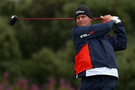 SOUTHPORT, UNITED KINGDOM - JULY 17:  Anders Hansen of Denmark tees off on the 2nd hole during the First Round of the 137th Open Championship on July 17, 2008 at Royal Birkdale Golf Club, Southport, England.  (Photo by Richard Heathcote/Getty Images)