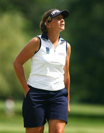 BETHLEHEM, PA - JULY 10:  Angela Stanford watches walks off the 14th green during the second round of the 2009 U.S. Women's Open at the Saucon Valley Country Club on July 10, 2009 in Bethlehem, Pennsylvania.  (Photo by Scott Halleran/Getty Images)