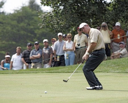 Peter Lonard of the International team during the second round of The Presidents Cup at Robert Trent Jones Golf Club in Prince William County, Virginia on September 23, 2005.Photo by Stan Badz/PGA TOUR/WireImage.com