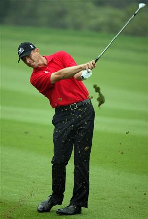 SHANGHAI, CHINA - NOVEMBER 06:  Soren Hansen of Denmark during the first round of the HSBC Champions at Sheshan Golf Club on November 6, 2008 in Shanghai, China.  (Photo by Ross Kinnaird/Getty Images)