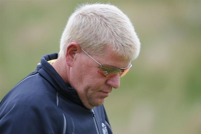 TURNBERRY, SCOTLAND - JULY 17:  John Daly of USA looks on during round two of the 138th Open Championship on the Ailsa Course, Turnberry Golf Club on July 17, 2009 in Turnberry, Scotland.  (Photo by Harry How/Getty Images)