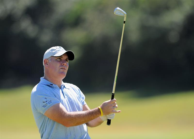 EAST LONDON, SOUTH AFRICA - JANUARY 06:  Phillip Archer of England plays an approach shot during practice prior to the Africa Open at the East London Golf Club on January 6, 2010 in East London, South Africa.  (Photo by Stuart Franklin/Getty Images)