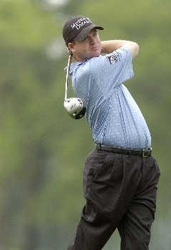 Joe Ogilvie tees off the 12th hole during the first round of the Shell Houston Open, Thursday April 21, 2005 at the Redstone Golf Club, Humbele, Texas.Photo by Marc Feldman/WireImage.com