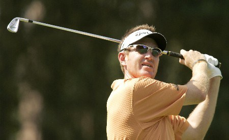 Greg Owen in action during the second round of the 2005 BMW Championship at Wentworth Golf Club's West Course. May 27, 2005Photo by Pete Fontaine/WireImage.com