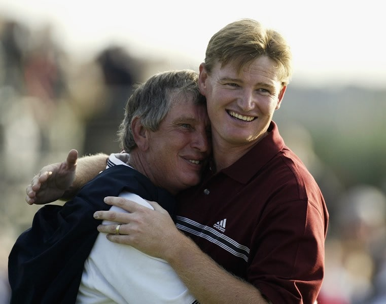 Ernie Els and father Neels
