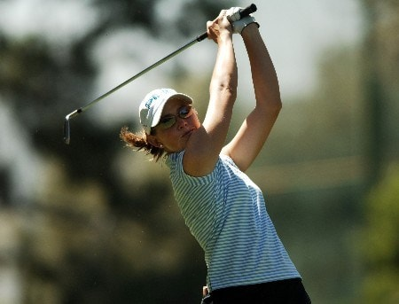 Stephanie Louden in action during the final round of the 2005 LPGA Takefuji Classic at the Las Vegas Country Club in Las Vegas, Nevada, April 16, 2005.Photo by Steve Grayson/WireImage.com