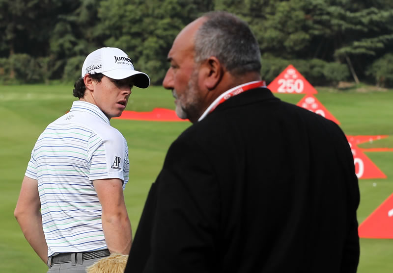 Rory McIlroy and Chubby Chandler