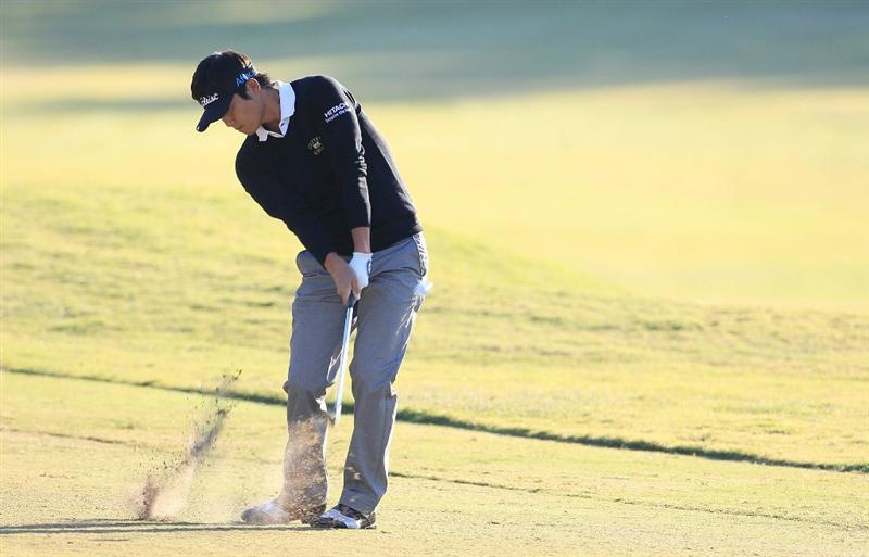 MADISON, MS - OCTOBER 01:  Ryuji Imada of Japan hits a shot from the fairway during the second round of the Viking Classic held at Annandale Golf Club on October 1, 2010 in Madison, Mississippi.  (Photo by Michael Cohen/Getty Images)
