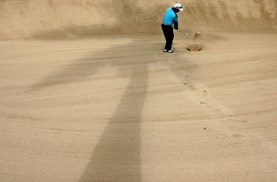 Tadd Fujikawa of Fiji hits out of the bunker on the 10th hole during the first round of the Sony Open at the Waialae Country Club January 10, 2008 in Honolulu, Oahu, Hawaii. PGA TOUR - 2008 Sony Open in Hawaii - First RoundPhoto by Jonathan Ferrey/WireImage.com