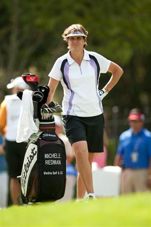 DANVILLE, CA - OCTOBER 16: Michele Redman looks on during the third round of the CVS/Pharmacy LPGA Challenge at Blackhawk Country Club on October 16, 2010 in Danville, California. (Photo by Darren Carroll/Getty Images)