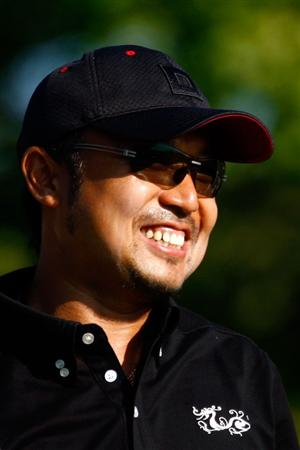CHASKA, MN - AUGUST 12:  Shingo Katayama of Japan smiles during the third preview day of the 91st PGA Championship at Hazeltine National Golf Club on August 12, 2009 in Chaska, Minnesota.  (Photo by Scott Halleran/Getty Images)