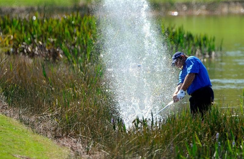 NAPLES, FL - FEBRUARY 21:  Fulton Allem plays a shot on the 12th hole  during the second round of the ACE Group Classic at the TPC Treviso Bay on Februrary 21, 2009 in Naples, Florida.  (Photo by Sam Greenwood/Getty Images)