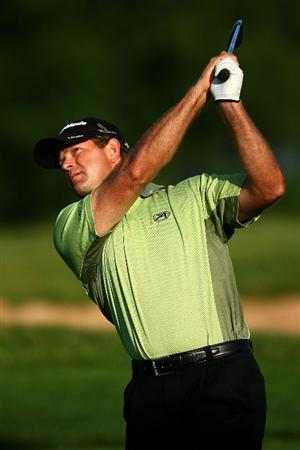 OAKVILLE, ONTARIO - JULY 26:  Retief Goosen of South Africa plays his second shot on the 10th hole during round three of the RBC Canadian Open at Glen Abbey Golf Club on July 26, 2009 in Oakville, Ontario, Canada.  (Photo by Chris McGrath/Getty Images)