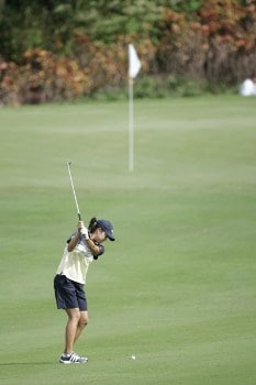 Hee-Won Han on the 4th hole during the second round of the ADT Championship held at Trump International Golf Club in West Palm Beach, Florida on Friday, November 18, 2005.Photo by Sam Greenwood/WireImage.com