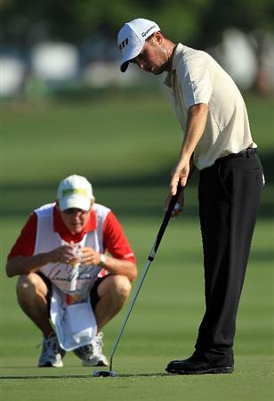 ORLANDO, FL - MARCH 25:  Spencer Levin putts at the 9th hole during the second round of the 2011 Arnold Palmer Invitational presented by Mastercard at the Bay Hill Lodge and Country Club on March 25, 2011 in Orlando, Florida.  (Photo by David Cannon/Getty Images)
