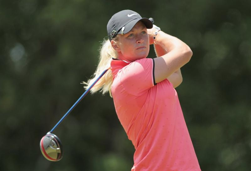 MOBILE, AL - APRIL 30:  Suzann Pettersen of Norway hits her tee shot on the seventh hole during the third round of the Avnet LPGA Classic at the Crossings Course at the Robert Trent Jones Trail at Magnolia Grove on April 30, 2011 in Mobile, Alabama.  (Photo by Scott Halleran/Getty Images)
