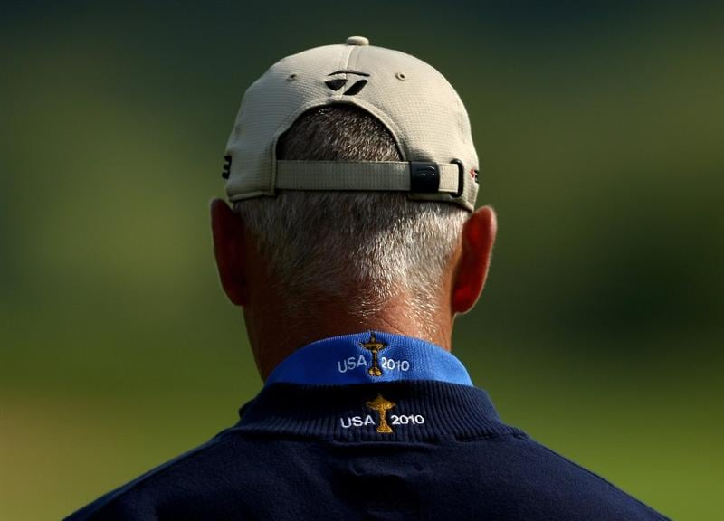 NEWPORT, WALES - JUNE 03:  A detailed view of the back of Corey Pavin of the USA's shirt, Pavin is the US Ryder Cup Captain for 2010 during the pro-am for the Celtic Manor Wales Open on the 2010 Course at The Celtic Manor Resort on June 3, 2009 in Newport, Wales.  (Photo by Richard Heathcote/Getty Images)