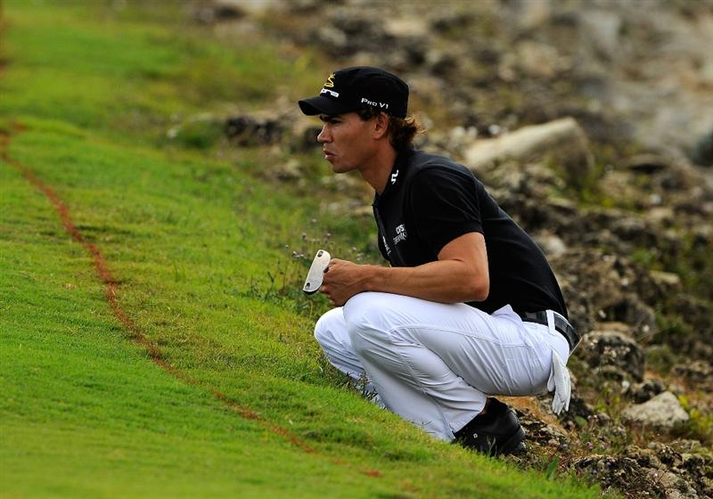 DORAL, FL - MARCH 12:  Camilo Villegas of Colombia looks over a shot on the 10th hole during the first round of the World Golf Championships-CA Championship at the Doral Golf Resort & Spa on March 12, 2009 in Miami, Florida.  (Photo by Sam Greenwood/Getty Images)