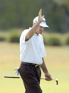 R.W. Eaks during the first round of the Champions Tour ACE Group Classic at The Club at TwinEagles on Friday, February 17, 2006, in Naples, Florida.Photo by Grant Halverson/WireImage.com