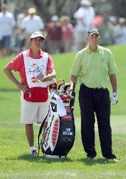ORLANDO, FL - MARCH 16:  Tom Lehman of the USA prepares to hit his second shot at the 1st hole during the final round of the 2008 Arnold Palmer Invitational presented by MasterCard at the Bay Hill Golf Club and Lodge, on March 16, 2008 in Orlando, Florida.  (Photo by David Cannon/Getty Images)