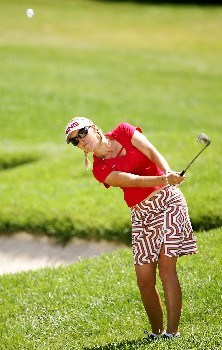 NEW ROCHELLE, NY - JULY 21:  Carin Koch of Sweden hits a shot on the 18th hole during the third round of the HSBC Women's World Match Play at Wykagyl Country Club on July 21, 2007 in New Rochelle, New York. (Photo by Sam Greenwood/Getty Images)