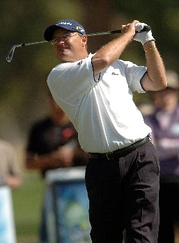 Gavin Coles in action during the third round of the PGA's Tour 2005 Chrysler Classic of Tucson at the Omni Tucson National Golf Resort & Spa February 26, 2005 in Tuscon, Arizona.