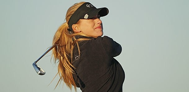 Belen Mozo in the 2012 RR Donnelley LPGA Founders Cup first round