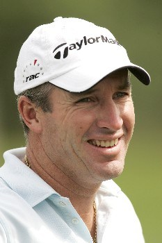 Peter Lonard during practice day of the 2005 BMW Championship at Wentworth Golf Club's West Course. May 25, 2005
