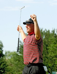 Brett Wetterich wins the EDS Byron Nelson Championship held at the TPC Players Course and the Cottonwood Valley Course on Sunday, May 14, 2006 in Irving, Texas.Photo by Marc Feldman/WireImage.com