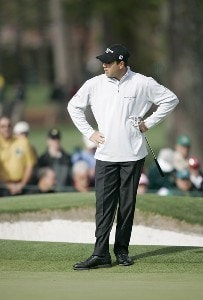 Arron Oberholser during the first round of the 2007 Masters at the Augusta National Golf Club in Augusta, Georgia, on April 5, 2007. The 2007 Masters - First RoundPhoto by Mike Ehrmann/WireImage.com