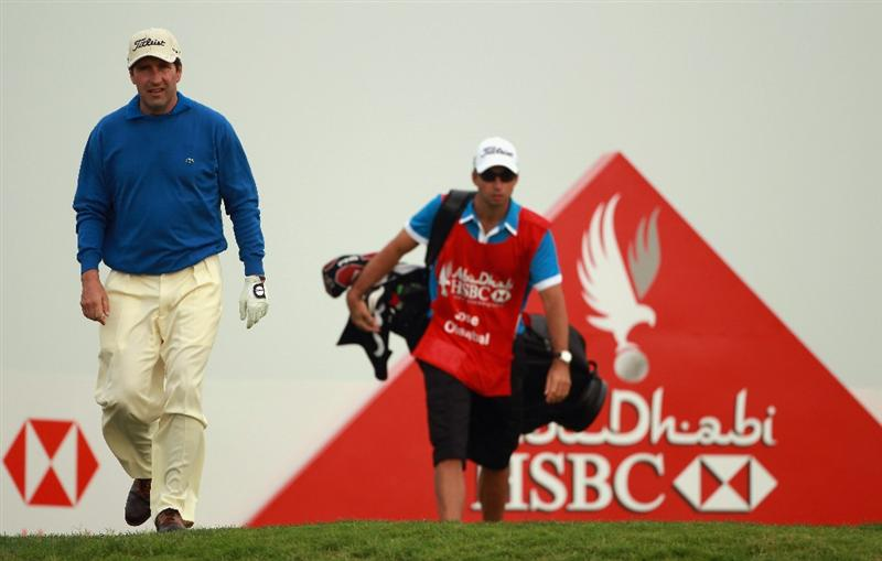 ABU DHABI, UNITED ARAB EMIRATES - JANUARY 19:  Jose Maria Olazabal of Spain in action during the Pro Am prior to the start of The Abu Dhabi HSBC Golf Championship at Abu Dhabi Golf Club on on January 19, 2011 in Abu Dhabi, United Arab Emirates.  (Photo by Andrew Redington/Getty Images)