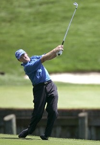 Des Smyth during the final round of the Ford Senior Players Championship held at TPC Michigan in Dearborn, Michigan, on July 16, 2006.Photo by Gregory Shamus/WireImage.com