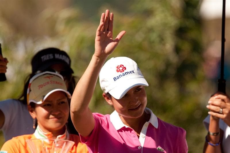 MORELIA, MEXICO - MAY 2: Lorena Ochoa of Mexico waves to the crowd following the fourth round of the Tres Marias Championship at the Tres Marias Country Club on May 2, 2010 in Morelia, Mexico. (Photo by Darren Carroll/Getty Images)