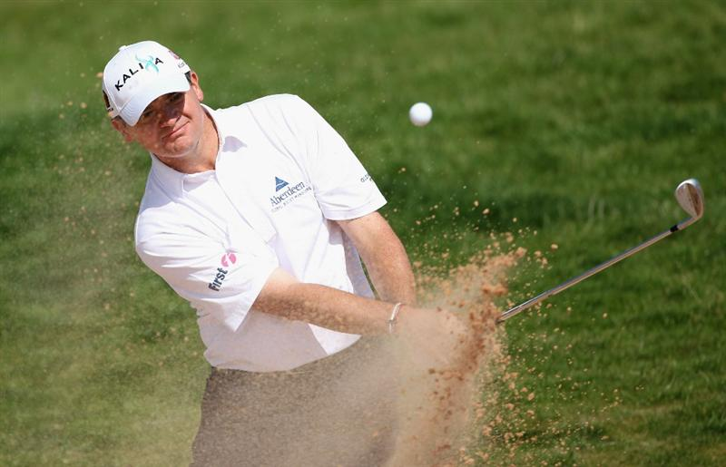NEWPORT, WALES - JUNE 03:  Paul Lawrie of Scotland in action during the first round of the Celtic Manor Wales Open on The Twenty Ten Course at The Celtic Manor Resort on June 3, 2010 in Newport, Wales.  (Photo by Andrew Redington/Getty Images)