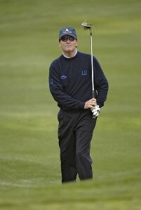Mark McNulty watches his chip to the second green  during the final round of the 2006 AT&T Classic on Sunday, March 12, 2006 at  Valencia Country Club in Valencia, CaliforniaPhoto by Marc Feldman/WireImage.com