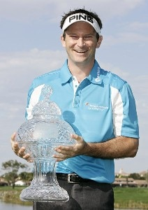 Mark Wilson holds the trophy after winning the Honda Classic on the Champion Course at PGA National in Palm Beach Gardens, Florida on Monday, March 5, 2007. PGA TOUR - The 2007 Honda Classic - Playoff Continuation - March 5, 2007Photo by Sam Greenwood/WireImage.com