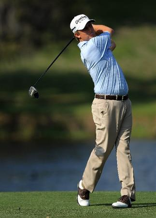 ORLANDO, FL - MARCH 27: David Toms of the USA plays his tee shot on the 16th hole during the final round of the 2011 Arnold Palmer Invitational presented by Mastercard at the Bay Hill Lodge and Country Club on March 27, 2011 in Orlando, Florida.  (Photo by David Cannon/Getty Images)