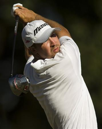 CHARLESTON, SC - OCTOBER 22: Chad Collins watches his drive on the 16th hole during the first round of the Nationwide Tour Championship at Daniel Island on October 22, 2009 in Charleston, South Carolina. (Photo by Chris Keane/Getty Images)