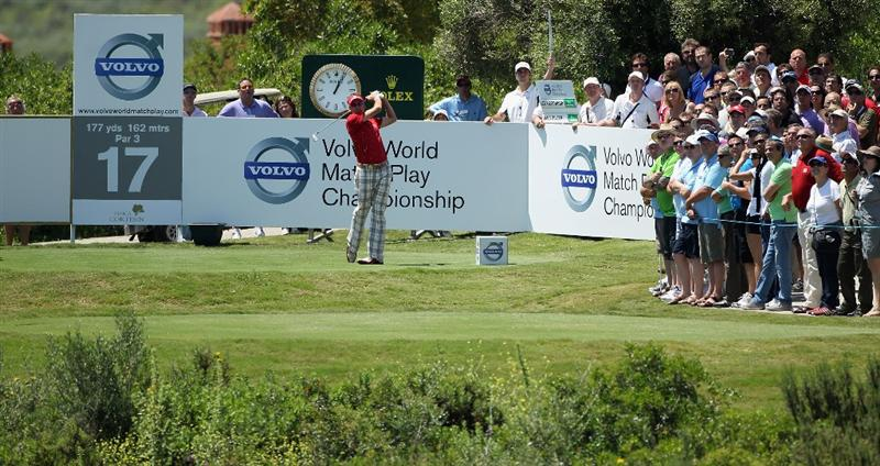 CASARES, SPAIN - MAY 21:  Ian Poulter of England in action during his last 16 match of the Volvo World Match Play Championships at Finca Cortesin on May 20, 2011 in Casares, Spain.  (Photo by Warren Little/Getty Images)