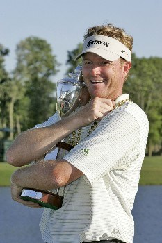 Tim Petrovic wins the Zurich Classic of New Orleans, May 1,2005, held at the TPC of Louisiana GC,  Avondale, La. Petrovic beat James Driscoll in a one hole playoff to win the tournament.Photo by Mike Ehrmann/WireImage.com